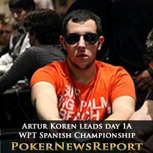 Artur Koren leads day 1a WPT Spanish Championship