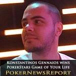 Konstantinos Gennaios Wins PokerStars Game of Your Life