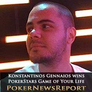 Konstantinos Gennaios Wins PokerStars Game of Your Life