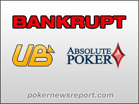 UB and Absolute Poker Bankrupt