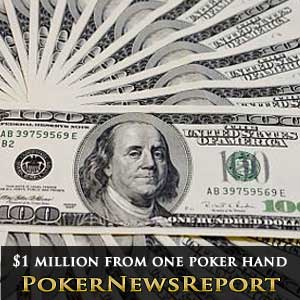 Win $1 million from just one hand of poker