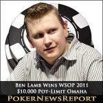 Ben Lamb Slaughters Field to Lift $10,000 Pot-Limit Omaha Championship Crown