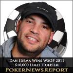 WSOP 2011: Dan Idema Wins $10,000 Limit Hold'em Championship