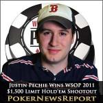 Justin Pechie Lifts WSOP 2011 $1,500 Limit Hold'em Shootout Crown
