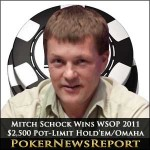 Schock and Awe as Mitch Bags the $2,500 Pot-Limit Hold'em/Omaha Bracelet