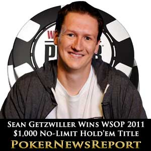 Sean Getzwiller wins WSOP 2011 No-Limit Hold'em