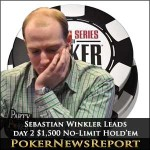 Sebastian Winkler Top After Day Two WSOP 2011 $1,500 No-Limit Hold'em