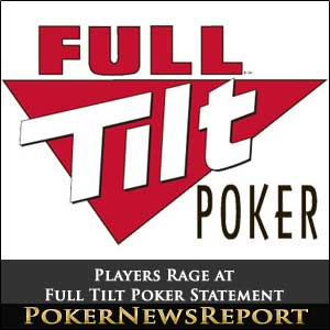 Full Tilt Poker Statement