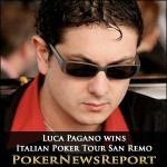 Luca Pagano Wins Italian Poker Tour San Remo