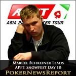 Marcel Schreiner Leads APPT Snowfest Day 1B