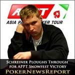 Schreiner Ploughs Through for APPT Snowfest Victory