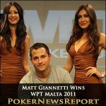 Matt Giannetti Wins WPT Malta 2011