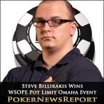 Steve Billirakis Wins WSOPE Pot Limit Omaha Event