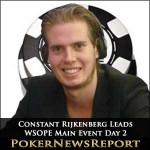 Constant Rijkenberg Leads WSOPE Main Event Day 2