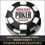 Guillaume Humbert Makes Impressive Debut to Claim WSOPE Event 1