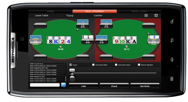 Switch Poker on Android Mobile