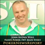 John Keown Wins Paddy Power IWF Main Event