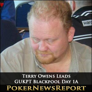 Terry Owens Leads GUKPT Blackpool Day 1A