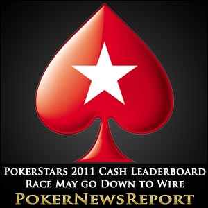 PokerStars 2011 Cash Leaderboard Race May go Down to Wire