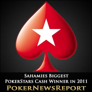 Sahamies Biggest PokerStars Cash Winner in 2011