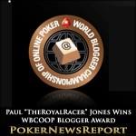 Paul Jones Snaffles PokerStars' WBCOOP Best Blogger Award