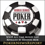 WSOP All Time Money List Revealed by Hendon Mob