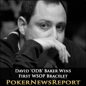 David 'ODB' Baker Wins First WSOP Bracelet
