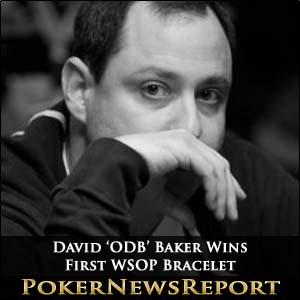 David 'ODB' Baker Wins First WSOP Bracelet