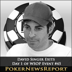 David Singer Exits Day 1 of WSOP Event #45