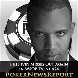 Phil Ivey Out - WSOP Event #24