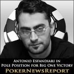 Antonio Esfandiari in Pole Position for Big One Victory