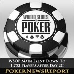 WSOP Main Event Down To 1,753 Players after Day 2C