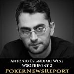Esfandiari Produces the Magic to Win WSOPE Event 2