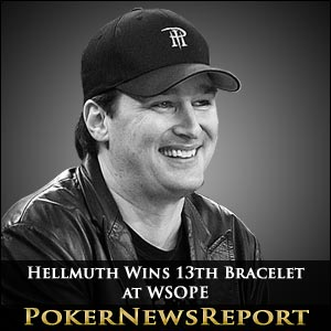 Phil Hellmuth Wins 13th Bracelet at WSOPE