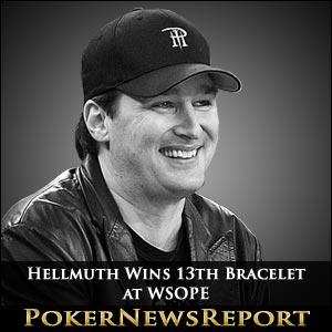 Phil Hellmuth Wins 13th Bracelet at WSOPE