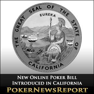 Online poker bill california