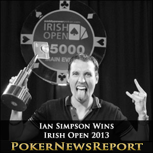 Ian Simpson Wins Irish Open 2013