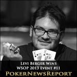 Levi Berger Wins WSOP 2013 Event #11