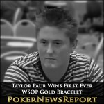 Taylor Paur Wins First Ever WSOP Gold Bracelet