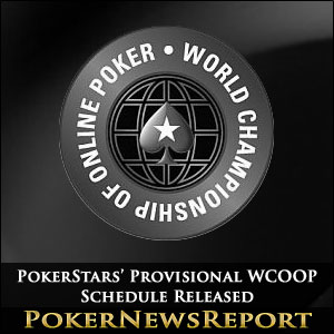 PokerStars' Provisional WCOOP Schedule Released
