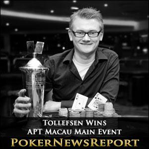 Tollefsen Wins APT Macau Main Event
