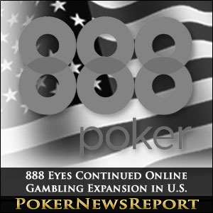 888 Eyes Continued Online Gambling Expansion in U.S.