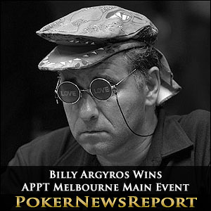 Billy Argyros Wins APPT Melbourne Main Event