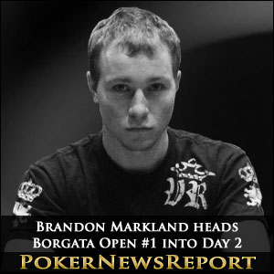 Brandon Markland heads Borgata Open #1 into Day 2