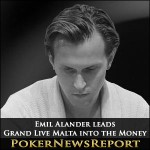 Emil Alander leads Grand Live Malta into the Money