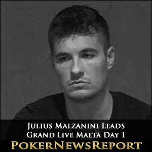 Julius Malzanini Leads Grand Live Malta Day 1