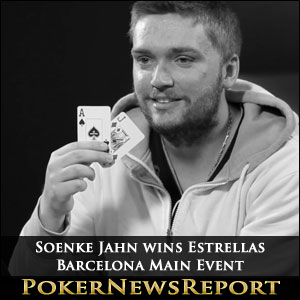 Soenke Jahn wins Estrellas Barcelona Main Event