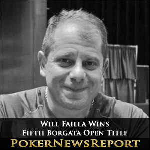 Will Failla Wins Fifth Borgata Open Title