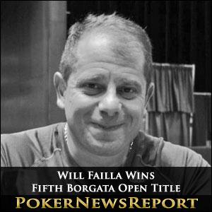 Will Failla Wins Fifth Borgata Open Title