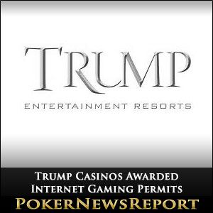Trump Casinos Awarded Internet Gaming Permits
